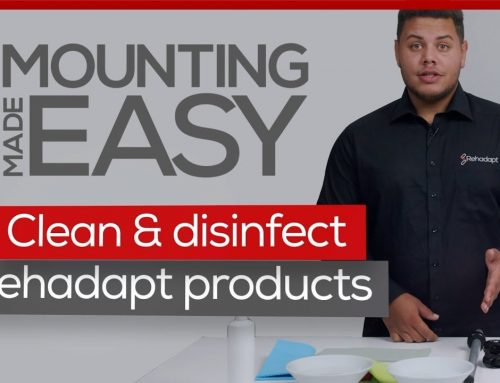 How to clean and disinfect Rehadapt products