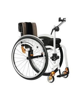Wheelchair mount for an AAC device mounted on a wheelchair