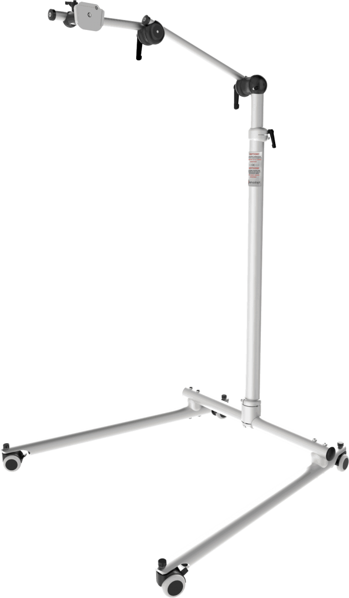 Classic Tele floor stand with adjustable height, by Rehadapt
