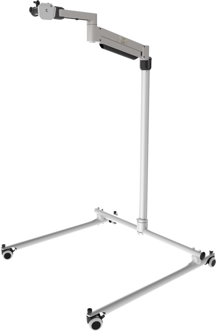 Classic Eco floor stand with floating arm, by Rehadapt
