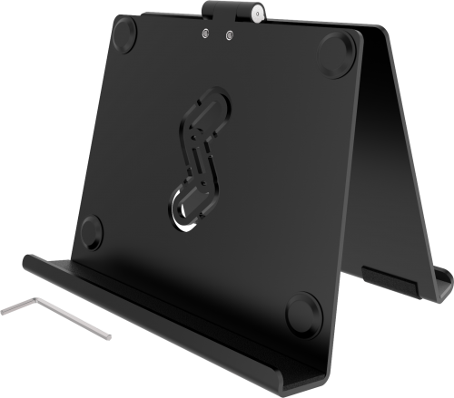 TS-FT is a table mount for your iPad, Samsung Galaxy or any other tablet, with our without protective case, by Rehadapt.