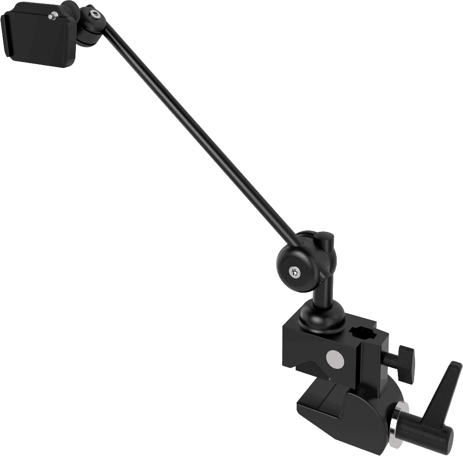Light 3D table mount with clamp, by Rehadapt.