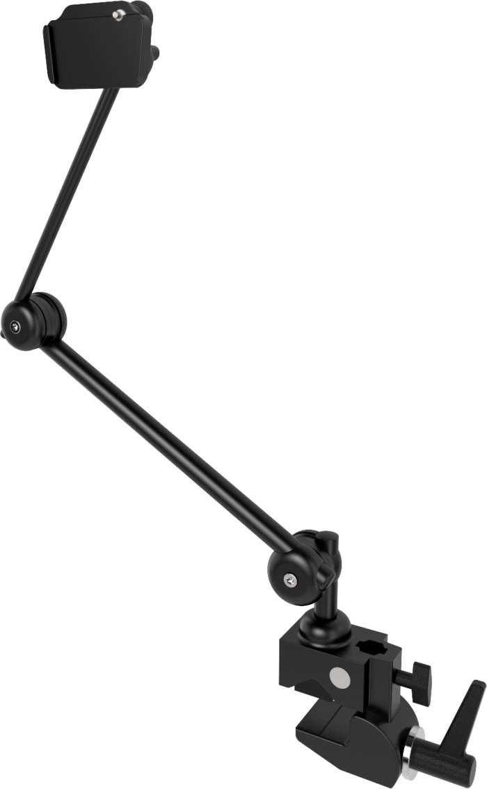 Light 3D table mount with two tubes and a clamp, by Rehadapt.