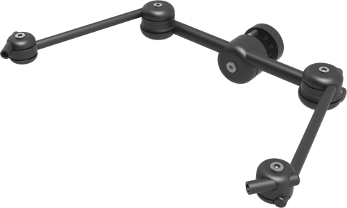 Light 3D dual switch mount to position 2 switches at wheelchair headrest, by Rehadapt