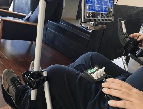 Im Rollstuhl ein Tablet benutzen? Ja, natürlich!