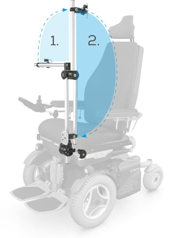 Wheelchair fold down mount makes it easier to enter and exit your wheelchair